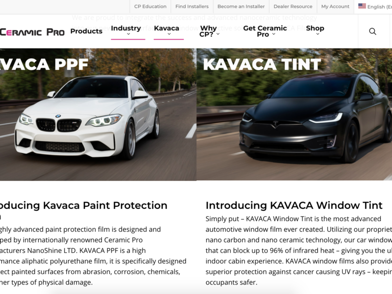 Ceramic Pro Introduces Kavaca Window Tint Films